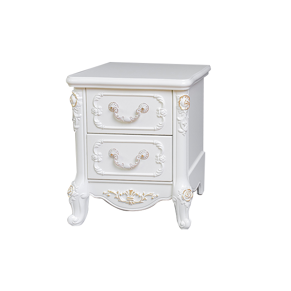 European Style Unique white french provincial wooden night table bedside