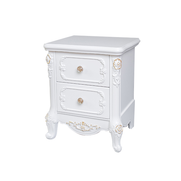 High quality 2 drawer bedroom small clear nightstand