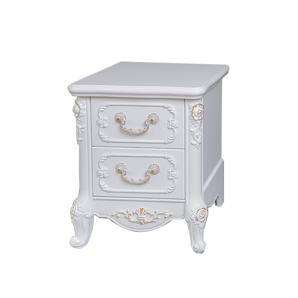 White European Style Wooden Bedside Table