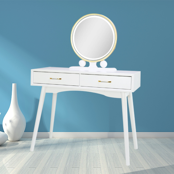 Cheap custom size white wooden dresser with mirror