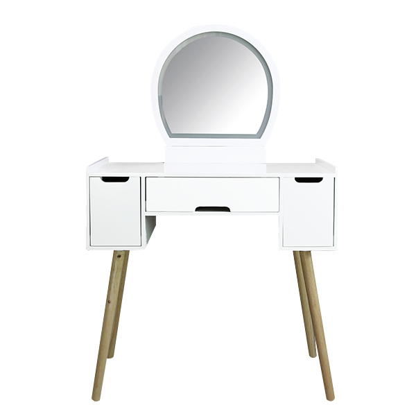 Customizing the dressing table with a wardrobe hollow is a common practice