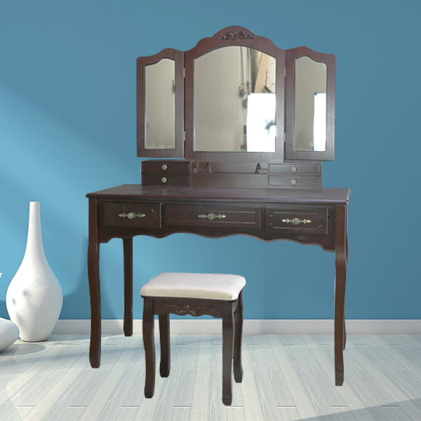 Bedroom furniture makeup wood dress table with Mirror