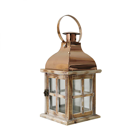 Wedding decoration wooden led candle lantern