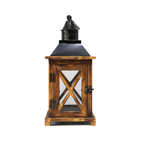OEM garden decoration lantern vintage metal wood Lantern